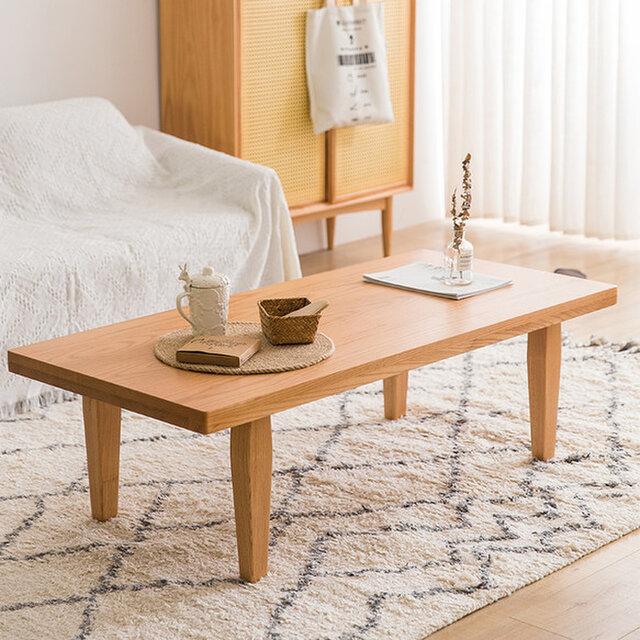 オーダーメイド 職人手作り センターテーブル コーヒーテーブル 座卓 テーブル 北欧 天然木 木目 サイズオーダー可の画像1枚目