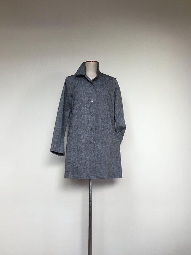 紬のコート    着物リメイクの画像1枚目