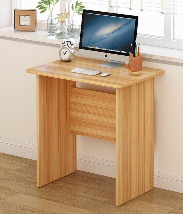 オーダーメイド 職人手作り パソコンデスク テーブル 学習机 デスク 天然木 木目 家具 木工 木製 サイズオーダー可の画像1枚目