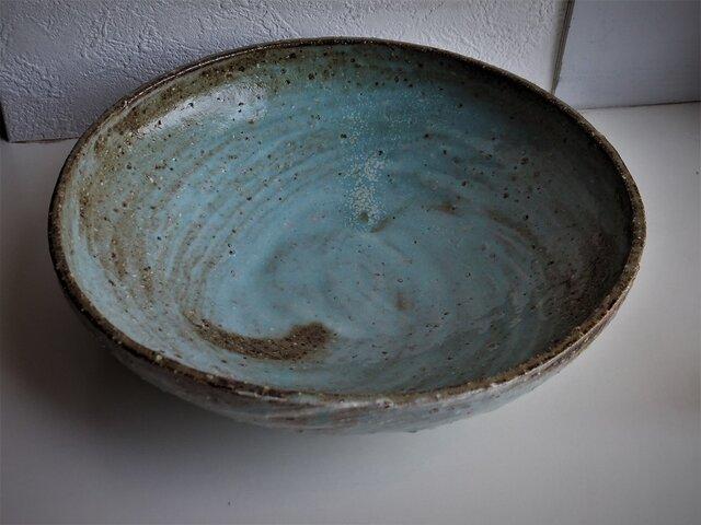 青刷毛目中鉢の画像1枚目