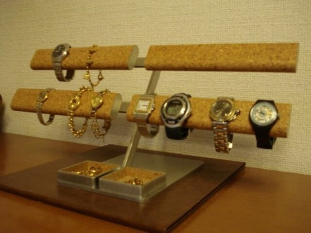 腕時計スタンド ロングだ円パイプ16本掛けの画像1枚目