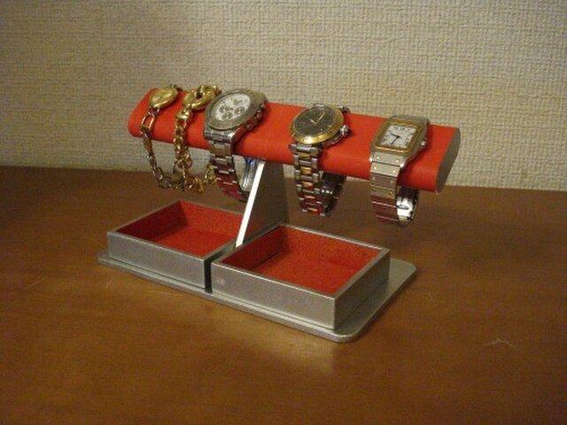 だ円ダブルでかいトレイレッド腕時計スタンド ak-design No.131106の画像1枚目