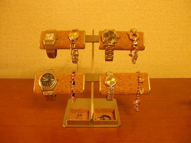 だ円パイプ8本掛け腕時計&アクセサリー宝箱スタンド IMG112の画像1枚目