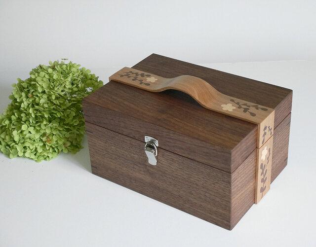 象嵌リボンの小箱〈WN/01〉【受注製作品】の画像1枚目