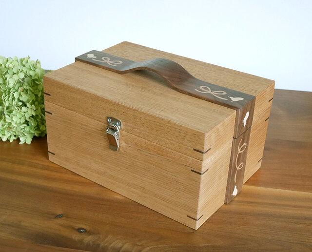 象嵌リボンの小箱〈KU/01〉【受注製作品】の画像1枚目