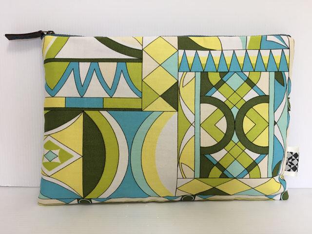 バッグインバッグ クラッチバッグ 図形デザイン2の画像1枚目