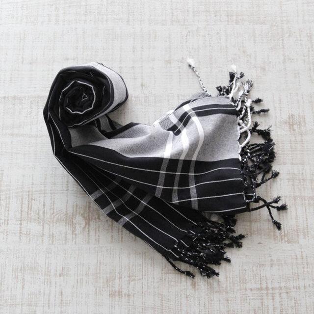 ケニアの綿織物 キコイ ショール / ストールの画像1枚目