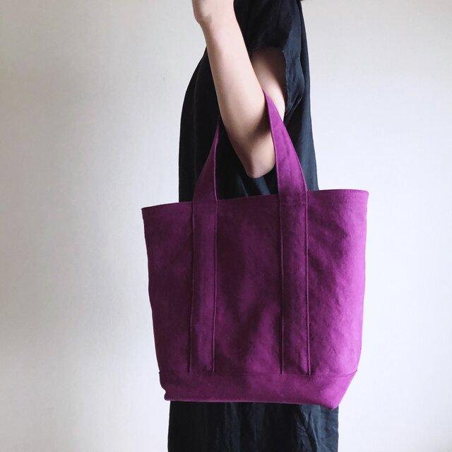 TOTE BAG (L) / purpleの画像1枚目