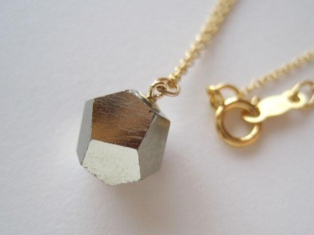 パイライトの原石ネックレス/黄鉄鉱/Spain   14kgfの画像1枚目