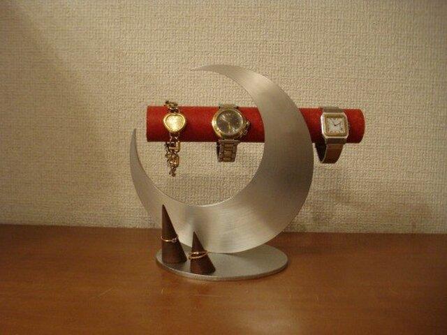 プレゼントに かわいい!!レッド三日月腕時計スタンド  N13218の画像1枚目