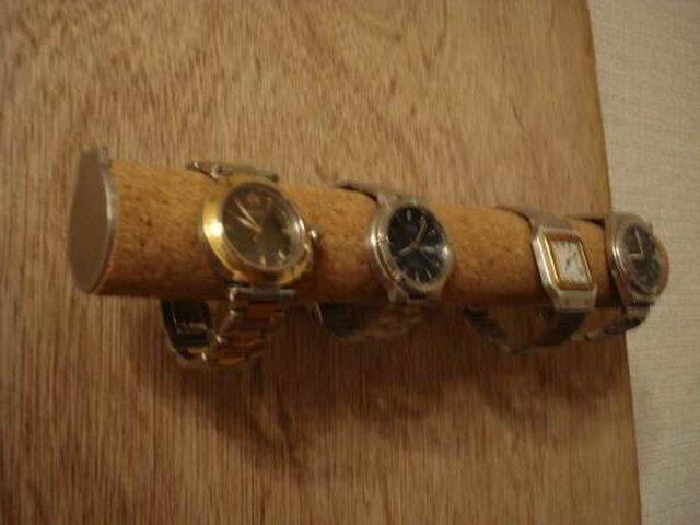 4本掛け壁付き丸パイプ腕時計スタンド2 ak-design N120922の画像1枚目