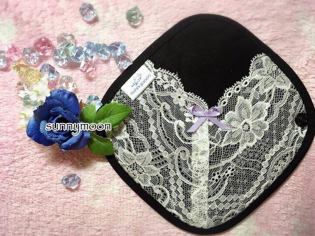 sunnymoon☆ランジェリー  タイプの布なぷライナー「fairyブラック」の画像1枚目