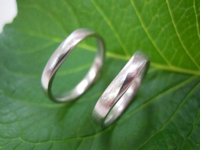ハンドメイド結婚指輪☆粗仕上げ&お洒落なVラインの画像1枚目