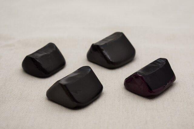 スプーン・箸置 4個セット 黒漆灰色漆紫漆の画像1枚目
