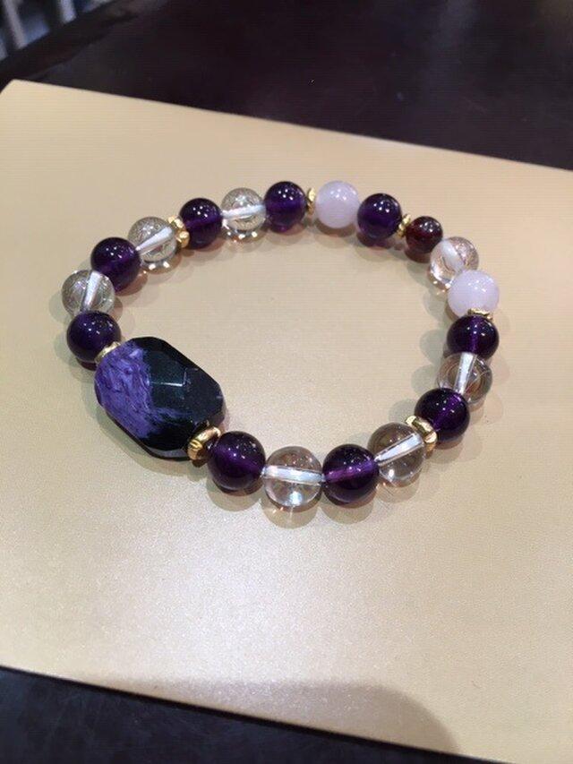 チャロアイトの紫ブレスレットの画像1枚目