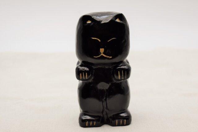 黒猫 黒漆白漆の画像1枚目