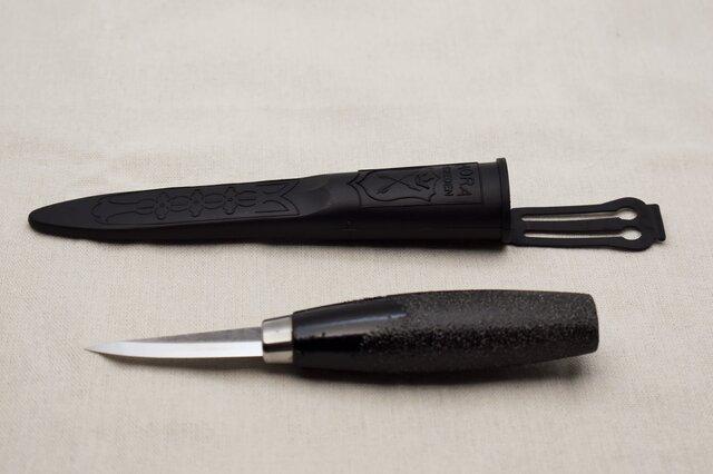 モーラナイフウッドカービン120 白石目砥出黒漆柄 の画像1枚目