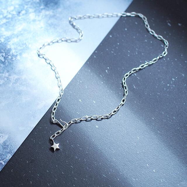星 チョーカー ネックレス シルバー925の画像1枚目