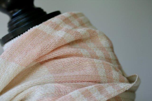 絹紡糸,アルパカx カシミヤストール sj180705の画像1枚目