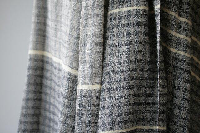 絹紡糸,アルパカx 真綿シルクストール sj180706の画像1枚目