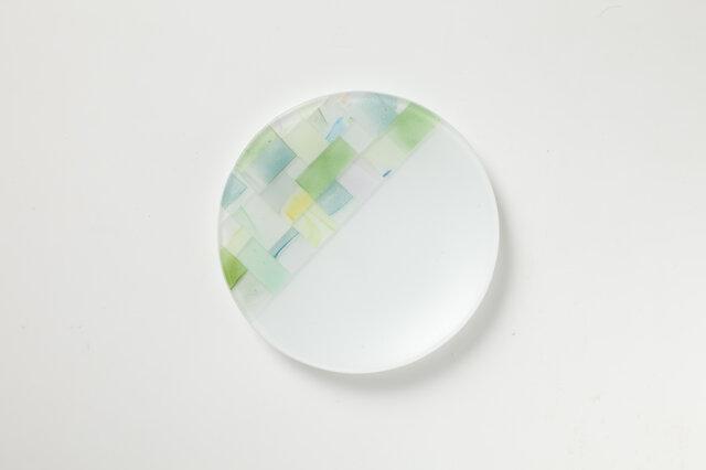 パッチワークのお皿(直径130ミリ)の画像1枚目
