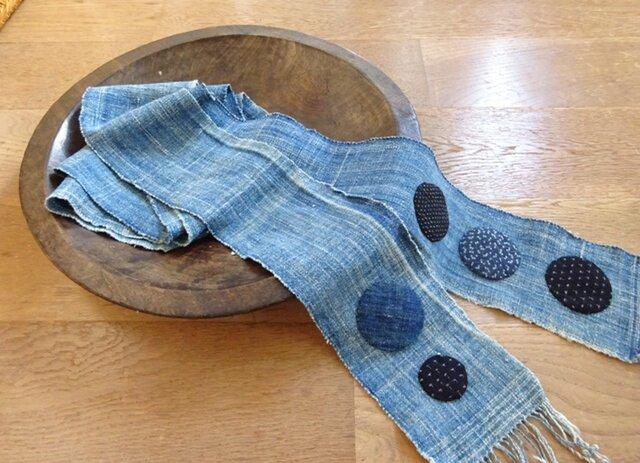 木綿を遊ぶロングスカーフ(弐)の画像1枚目