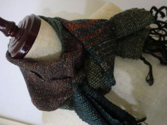 《手織り》アルバカを使ったウールマフラーの画像1枚目