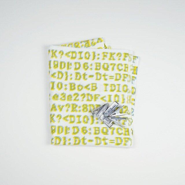 手ぬぐい【 bug 】黄×灰の画像1枚目