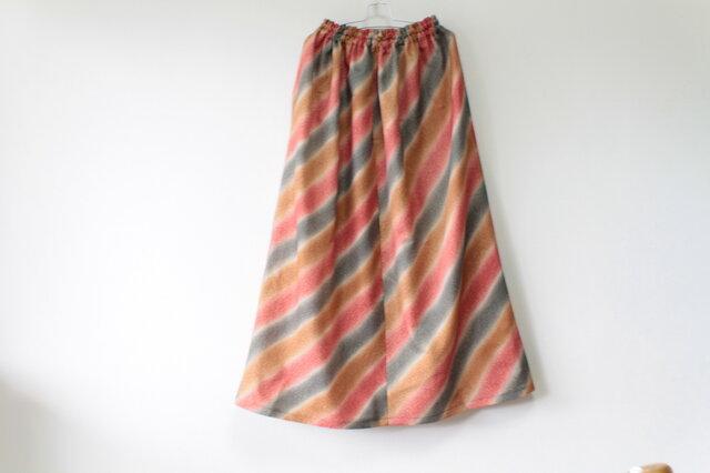 ☆着物ロングスカート☆秋色♪/31ks42の画像1枚目