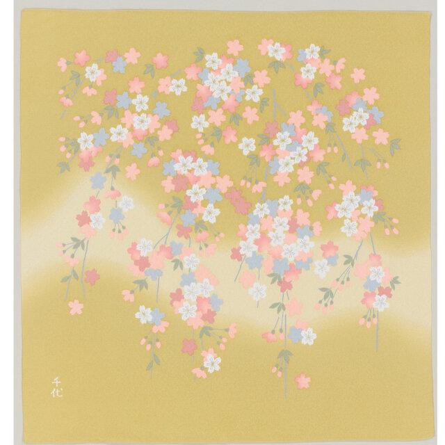 風呂敷 宇野千代 70cm幅 乙女桜の画像1枚目