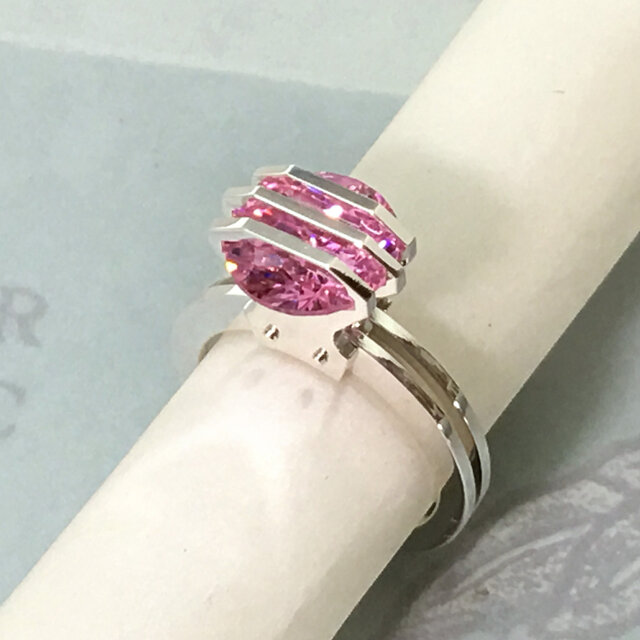 Three Parallel Lines CZ Ring<Order Production>の画像1枚目