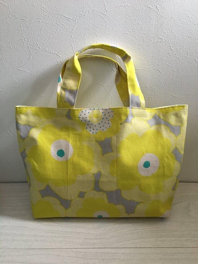 黄色いお花のトートバッグの画像1枚目