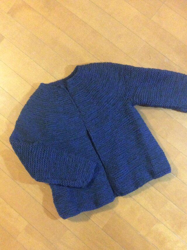 在庫処分値下げ グラデーションブルー ウールのジャケットの画像1枚目