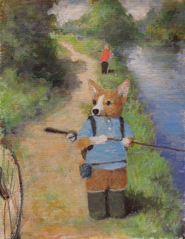 釣り・コーギーの画像1枚目