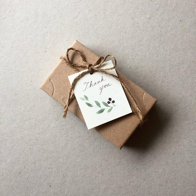 小さなオリーブのメッセージカード タグ 40枚の画像1枚目