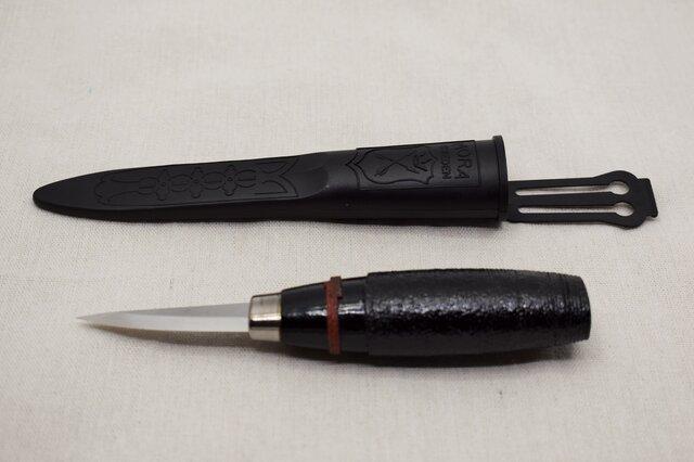 モーラナイフウッドカービン120 綿糸巻黒漆朱漆 の画像1枚目
