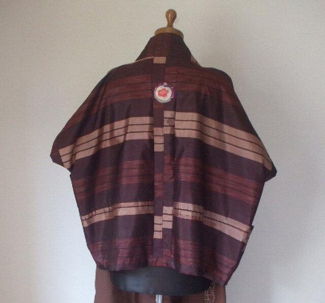 男性用羽織の裏でカーディガン 銘仙・絹の画像1枚目
