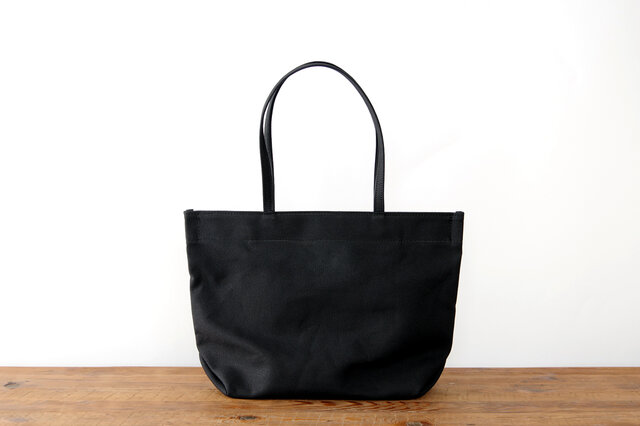 《Canvas》Simple tote Bag ブラックの画像1枚目