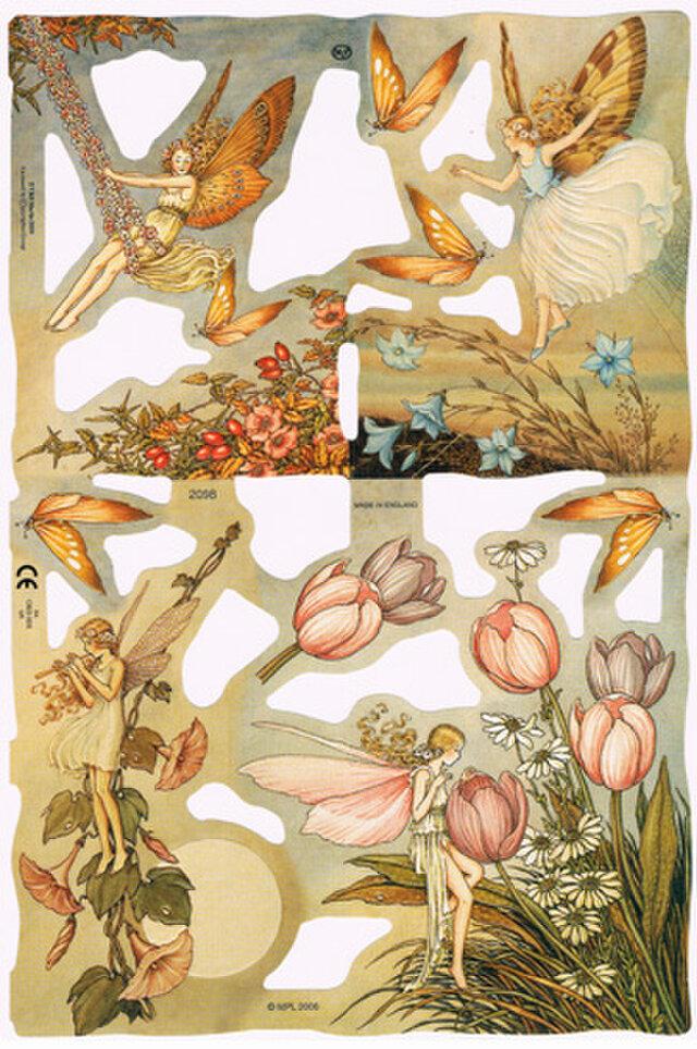 廃版イギリス製クロモス 花の精#2 ラメなし【England】DA-CHER012の画像1枚目