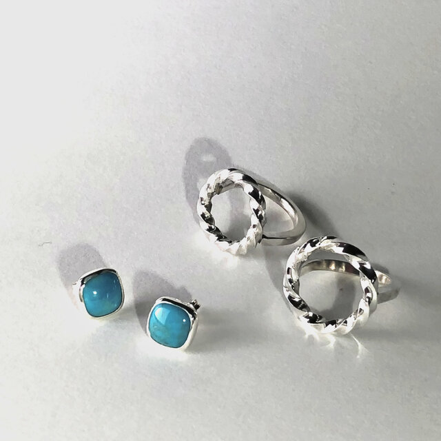 Turquoise Earringsの画像1枚目