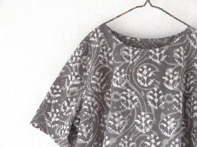 砂漠の花・木版更紗のふわっとAラインの画像1枚目