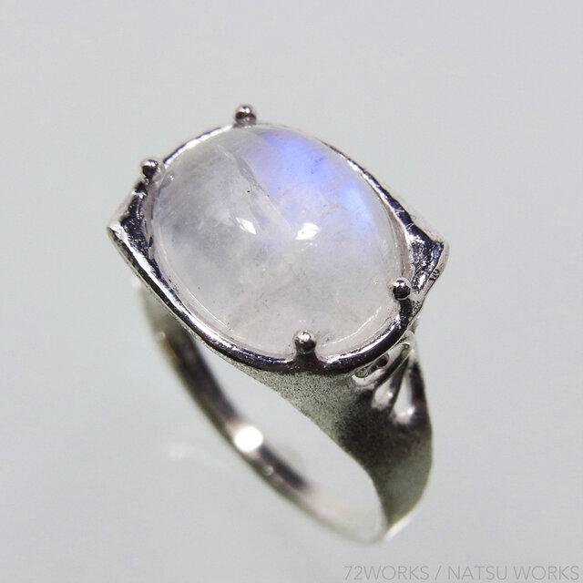 レインボー・ムーンストーン * Moonstone Ringの画像1枚目