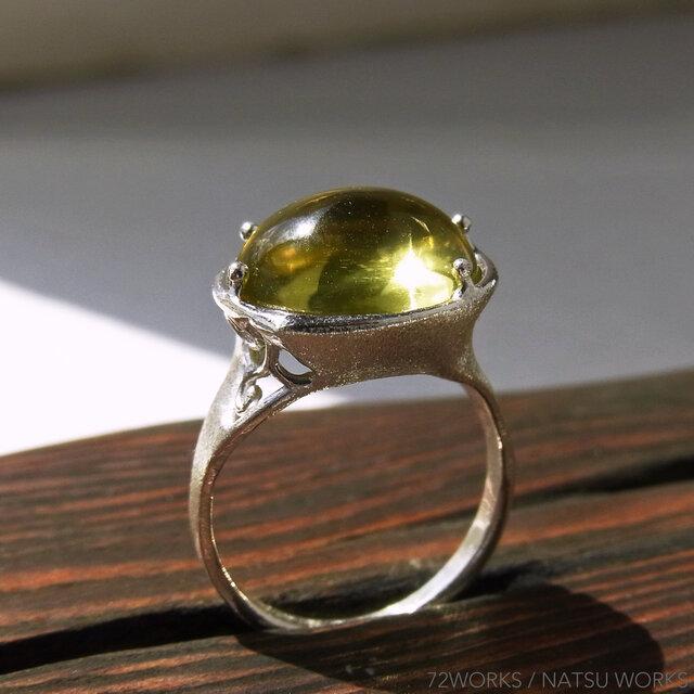 レモンクォーツ * Lemon Quartz Ringの画像1枚目