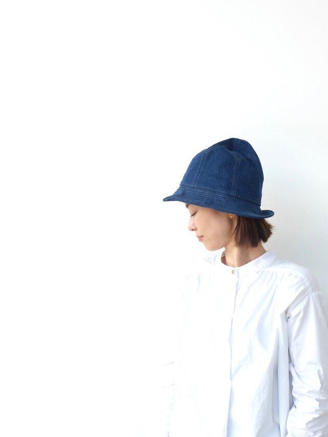 egg hat denim / size59cmの画像1枚目