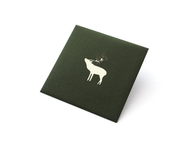 【切り絵のぽち袋】 鹿(大サイズ) 2枚セットの画像1枚目