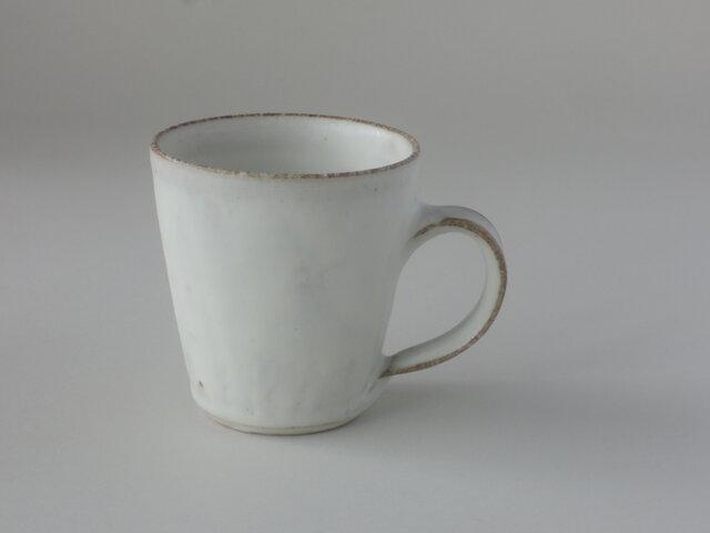りんご釉粉引マグカップの画像1枚目