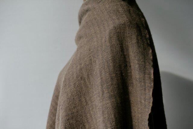 【C様ご提案品】カシミヤxギチャシルクストール sj170402後染めの画像1枚目
