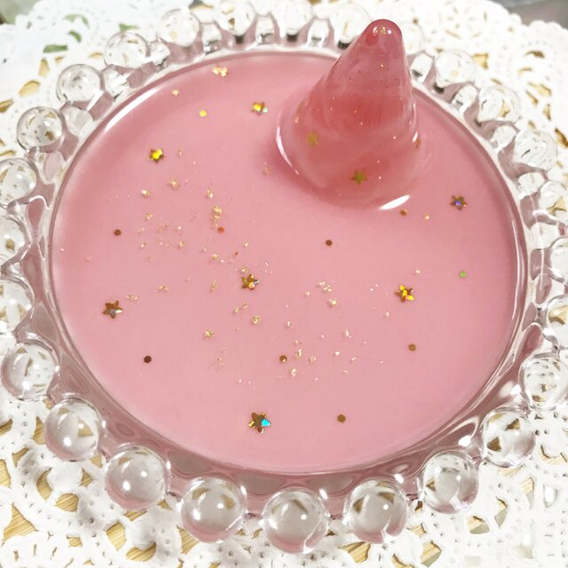 再販!Dream Starリングスタンド付きアクセサリートレイ(ピンク)の画像1枚目