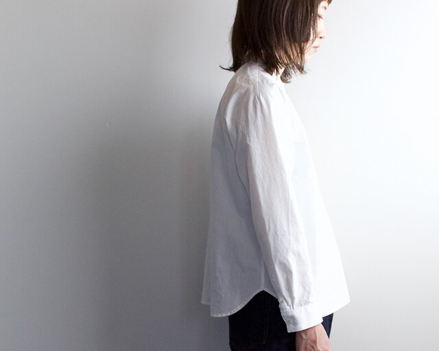 weather cloth/raglan shirt//whiteの画像1枚目