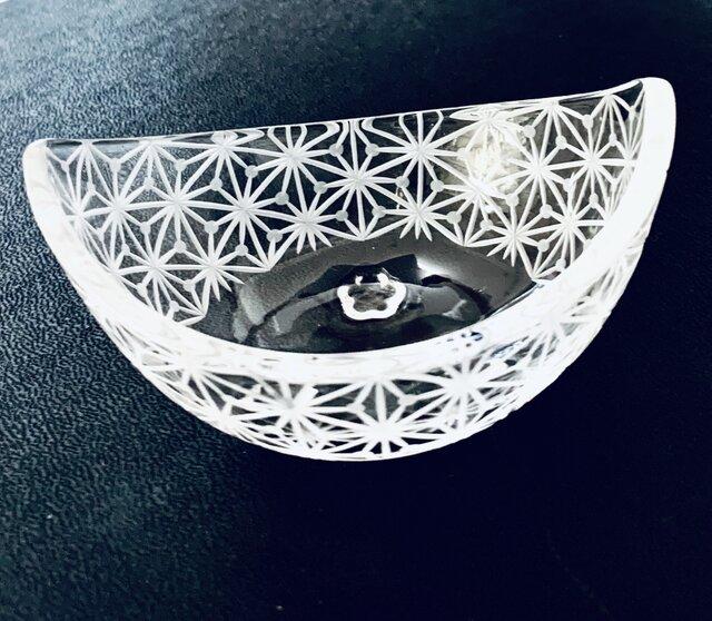 東京切子(花切子)小鉢 千代紙の画像1枚目